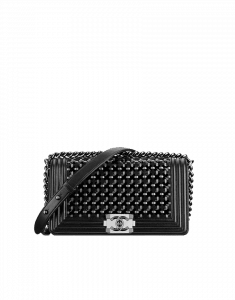 Chanel Dark Braided Boy Flap Bag - Cruise 2015