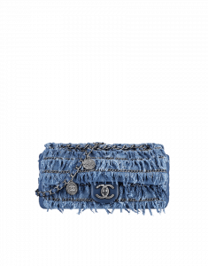 Chanel Fringed CC Denim Flap Small Bag - Cruise 2015