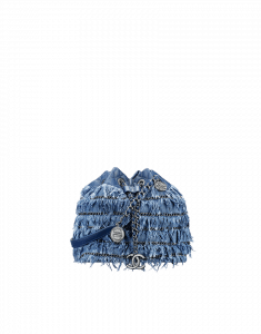 Chanel Fringed CC Denim Bucket Bag - Cruise 2015