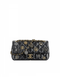 Chanel Black CC Medals Flap Bag - Cruise 2015