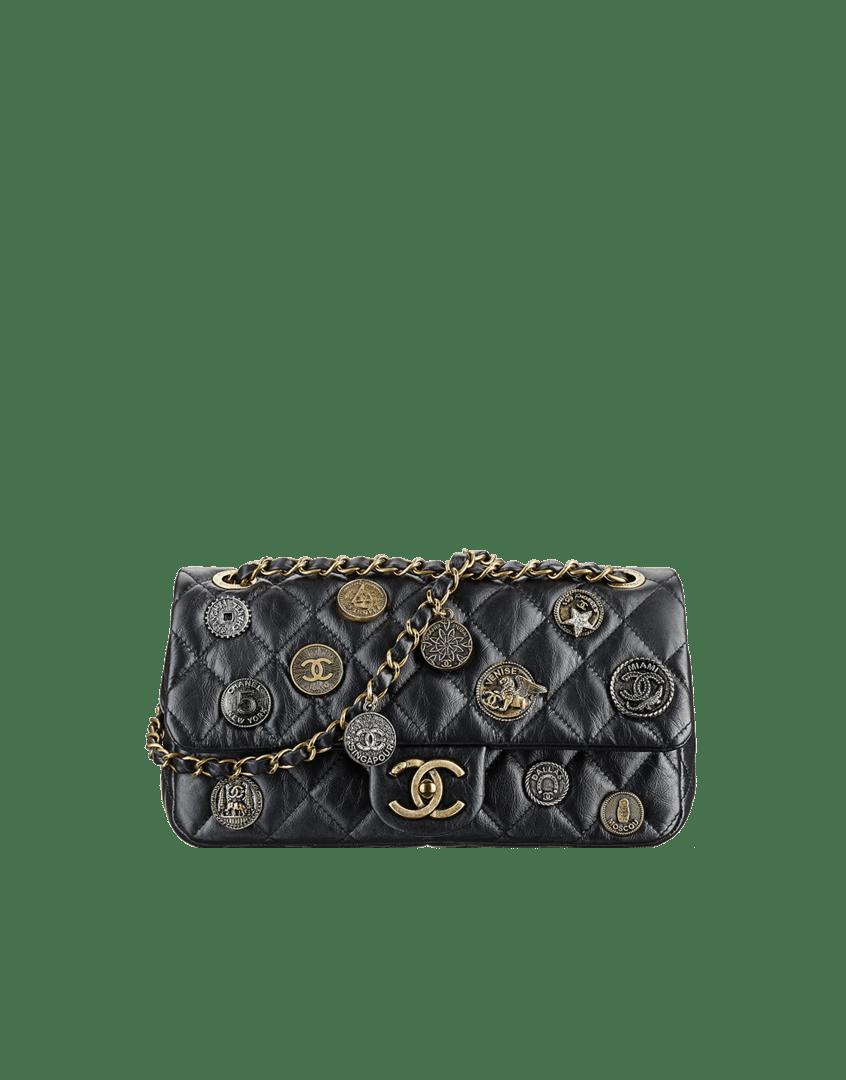 4928e01105ba13 ... Tweed Pompom Flap Bag - Cruise 2015 Chanel Black CC Medals Flap Bag -  Cruise 2015 ...