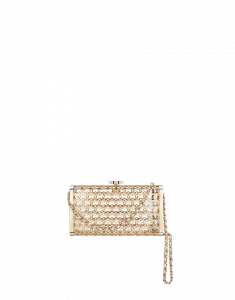 Chanel Metal Minaudiere with CC Design in Gold - Cruise 2015