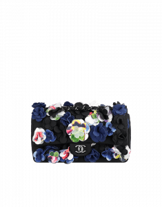 Chanel Multi Color Floral Applique Flap Bag - Cruise 2015