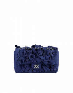 Chanel Navy Floral Applique 3D Flap Bag - Cruise 2015