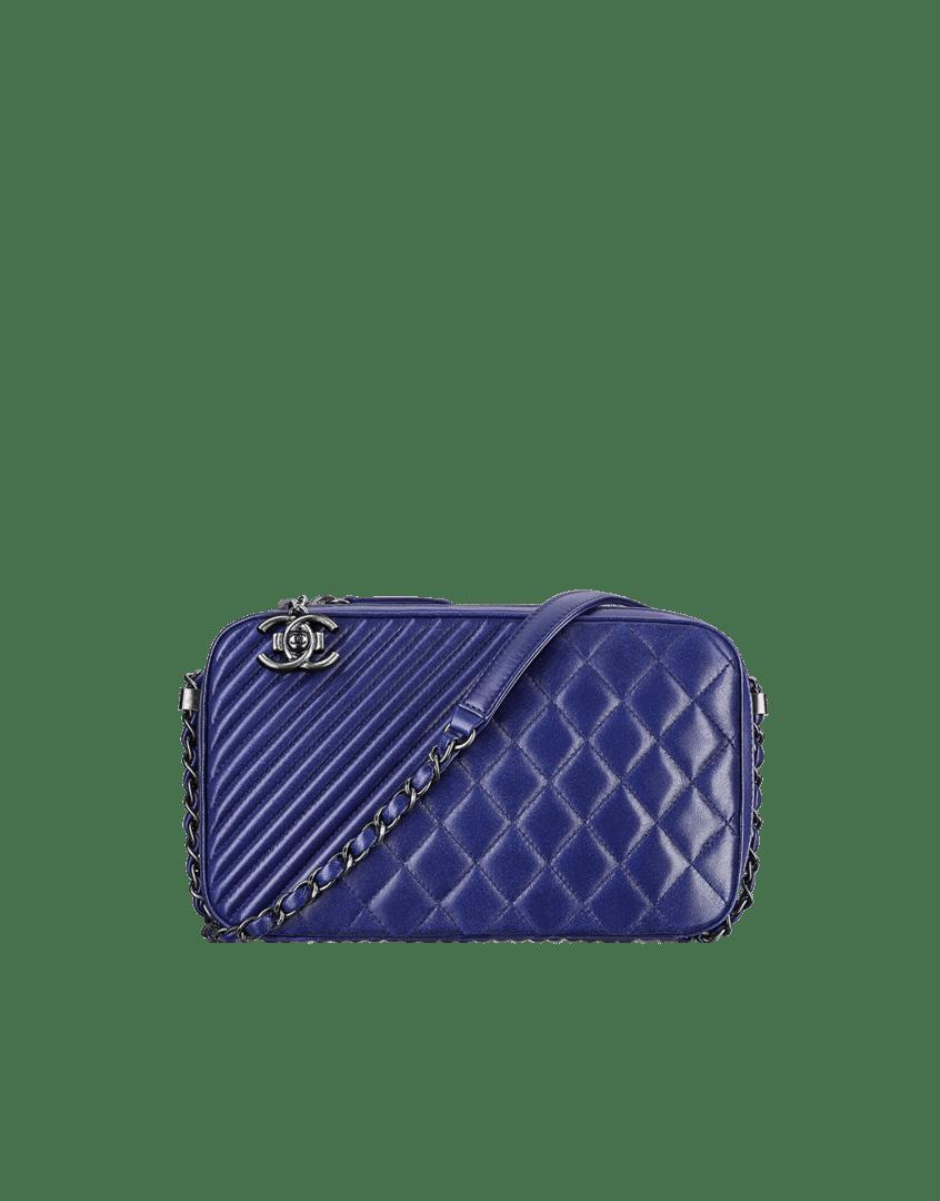 789659556f8 ... Chanel Navy Large Coco Boy Large Bag - Cruise 2015 ...