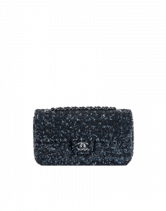 Chanel Navy Sequin Embroidered Flap Bag - Cruise 2015