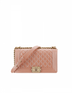 Chanel Pink Irridscent Boy Flap Bag - Cruise 2015