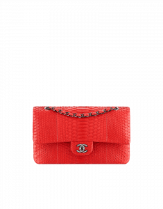 Chanel Red Python Small Flap Bag - Cruise 2015