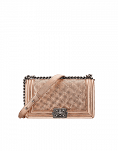 Chanel Rose Perforated Boy Bag - Cruise 2015
