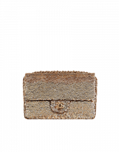 Chanel Sequin Gold Flap Bag - Cruise 2015