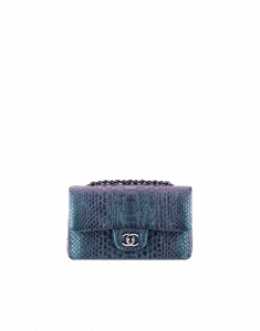 Chanel Small Blue Python Irridescent Flap Bag - Cruise 2015