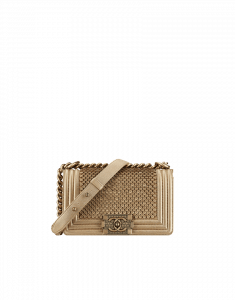 Chanel Small Gold Scaled Boy Flap Bag - Cruise 2015