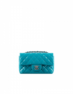 Chanel Small Patent Turquoise Flap Bag - Cruise 2015