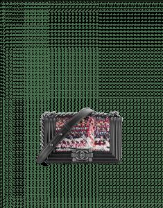 Chanel Tweed Small Lambskin Boy Bag - Cruise 2015