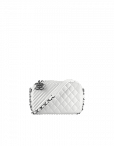 Chanel White Coco Boy Small Bag - Cruise 2015