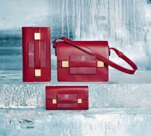 Delvaux Berry Polo/Galuchat Madame Pochette/Madame/Madame Portefeuille Long Bags - Fall 2014