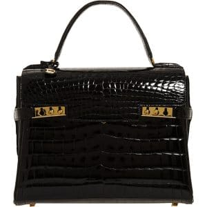 Delvaux Black Alligator Tempete MM Bag