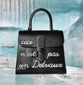 Delvaux Black L'Humour Brillant MM Bag - Fall 2014