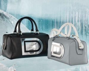 Delvaux Black Louise Boston / Miroir Louise Boston PM Bag - Fall 2014