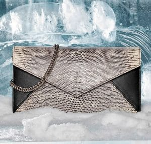 Delvaux Black/Ivory Lizard Brin de Folie Bag - Fall 2014