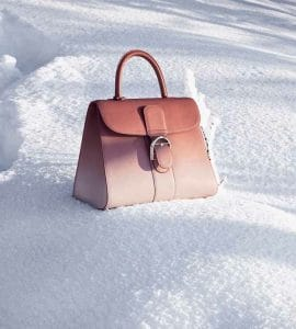 Delvaux Bois De Rose/Nude Brillant GM Bag - Fall 2014