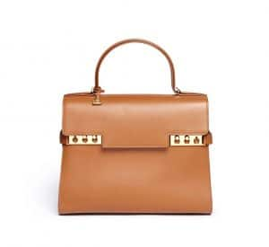 Delvaux Brown Tempete GM Bag