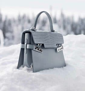 Delvaux Ice Calfskin/Alligator Dolce Tempete MM Bag - Fall 2014