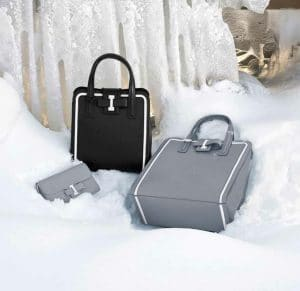 Delvaux Ice Simplissime Travel Wallet and Black/Ice Simplissime Tote Bags - Fall 2014