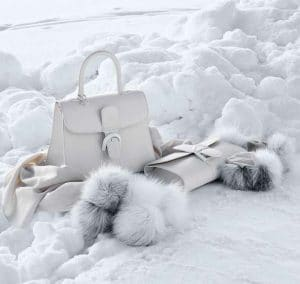 Delvaux Ivory Brillant MM and Brillant Pochette Bags - Fall 2014