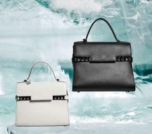 Delvaux Ivory/Noir Tempete MM and GM Bags - Fall 2014