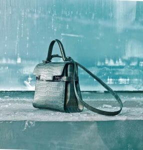 Delvaux Magma Crocodile Tempete MM Bag - Fall 2014