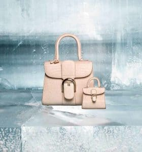 Delvaux Nude Alligator Dolce Brillant Mini Bag and Brillant Charms - Fall 2014