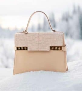 Delvaux Nude Calfskin/Alligator Dolce Tempete GM Bag - Fall 2014