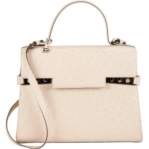 Delvaux Nude Ostrich Tempete GM Bag