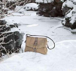 Delvaux Safari Sand/Lizard Givry Bag - Fall 2014