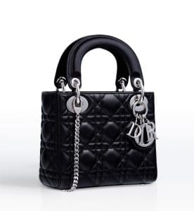 0b2223b8a4 Dior Black Lady Dior with Chain Mini Bag - Cruise 2015 Fior Red/Light ...
