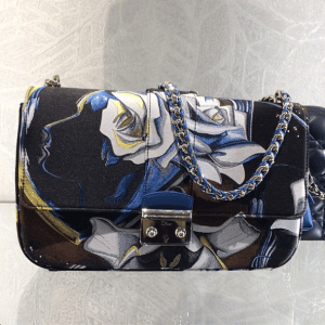 Dior Black Multicolor Floral Print Miss Dior Bag - Cruise 2015