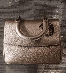 Dior Metallic Champagne Be Dior Flap Bag - Cruise 2015