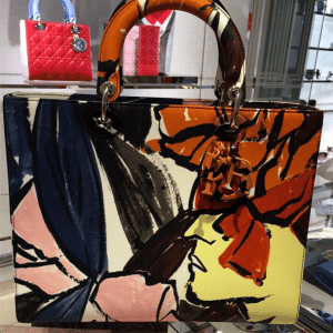 Dior Multicolor Floral Print Lady Dior Large Bag - Cruise 2015