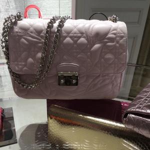 Dior Pink Floral Embossed Miss Dior Bag - Cruise 2015