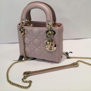 Dior Pink Lady Dior with Chain Mini Bag