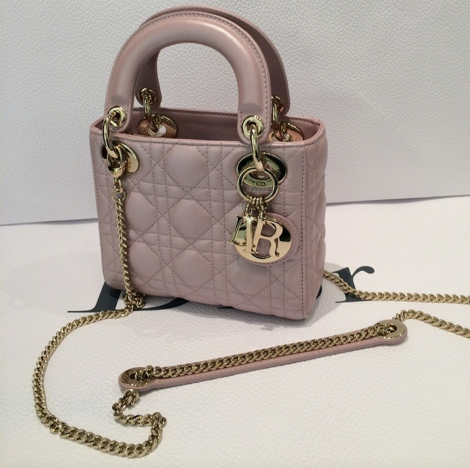 lady dior with chain mini bag for cruise 2015 spotted fashion. Black Bedroom Furniture Sets. Home Design Ideas
