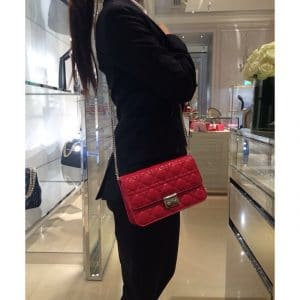 Dior Red Pouch Flap Bag - Cruise 2015