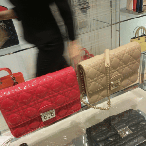 Dior Red/Beige Miss Dior Large Pouch Bags