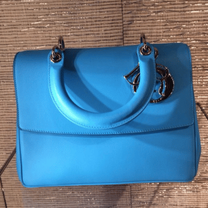 Dior Turquoise Be Dior Flap Bag - Cruise 2015