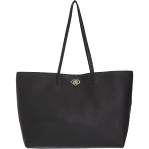 Fendi Black Carla Selleria Tote Medium Bag