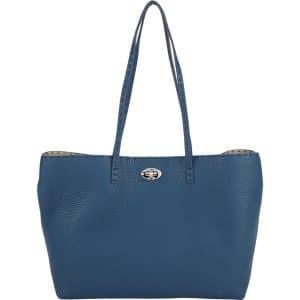 Fendi Blue Carla Selleria Tote Small Bag