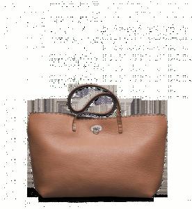 Fendi Cognac Carla Selleria Tote Medium Bag