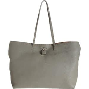 Fendi Dove Grey Carla Selleria Tote Medium Bag