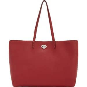 Fendi Red Carla Selleria Tote Medium Bag